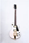 Arch Top LP Guitar in Antique White - Bracken Guitars
