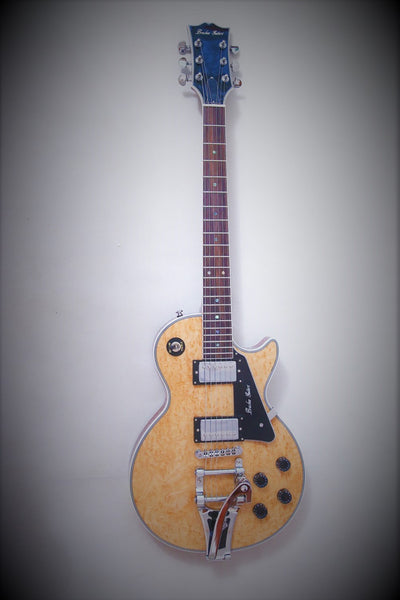 Arch Top LP Guitar With Quilted Maple Top - Bracken Guitars