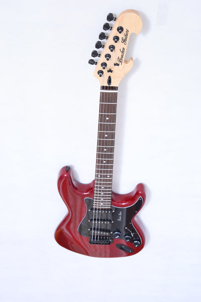 Solid body ST, in Corvette Red with Metal Flake burst , NEW FOR 2020 and Ready for You - Bracken Guitars