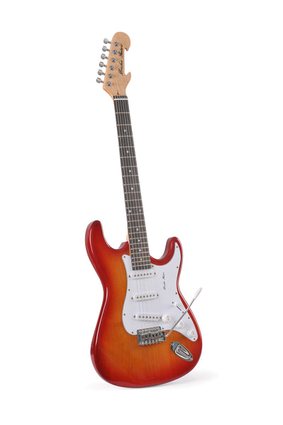 Red Burst Double Cutaway, Ready for Immediate delivery, - Bracken Guitars