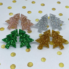 Acrylic Studs - Big Christmas Trees