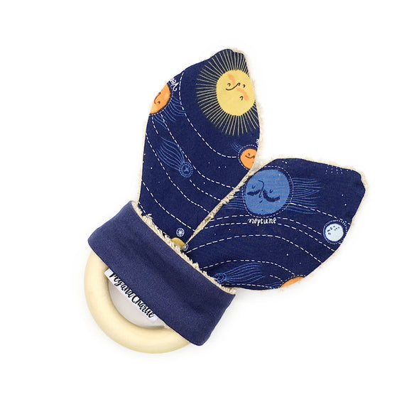 Gift Set - Dribble Bib, Burp Cloth & Teething Ring - Out of Space