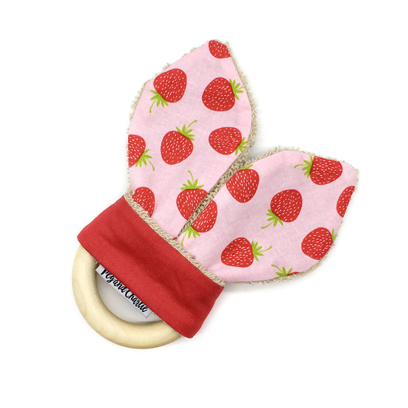 Teething Ring - Strawberries