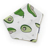 Gift Set - Dribble Bib, Burp Cloth & Teething Ring - Avocado