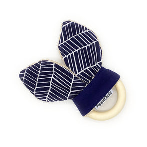 Teething Ring - Sketch Navy Geometric