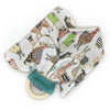 Gift Set - Dribble Bib, Burp Cloth & Teething Ring - Llama