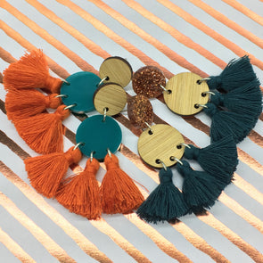 Statement Tassels - Cosmos Bamboo and Copper