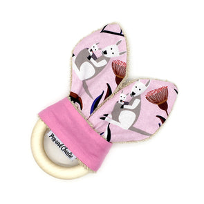 Teething Ring - Kangaroo Pink