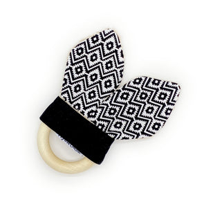 Teething Ring - Aztec Monochrome