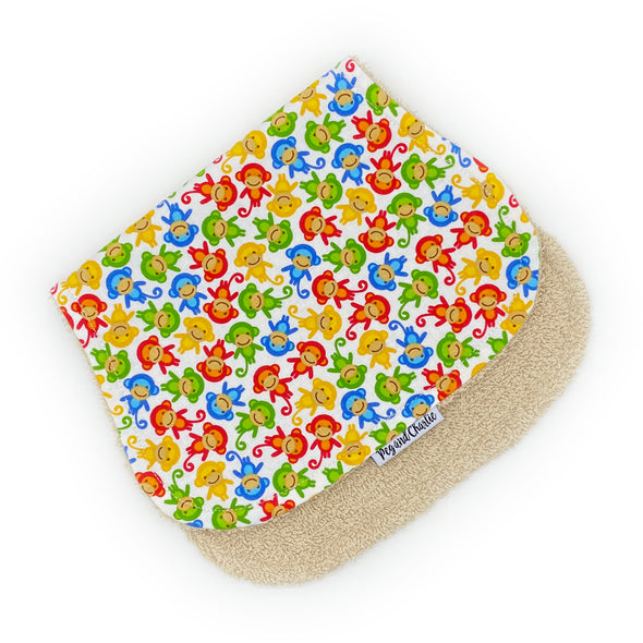 Burp Cloth - Monkeys Rainbow