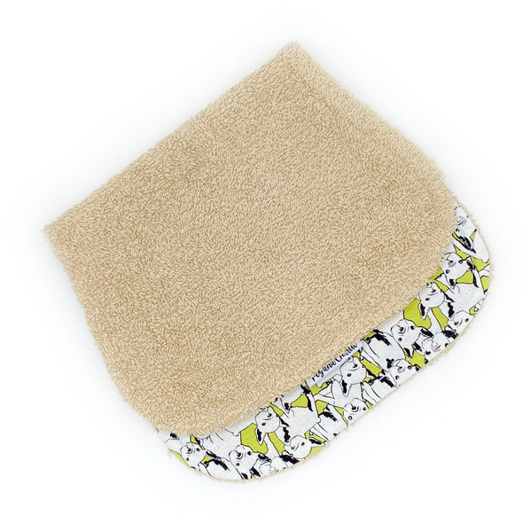 Burp Cloth - Frenchie Lime