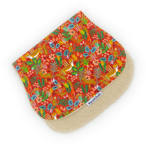 Burp Cloth - Into the Jungle Red