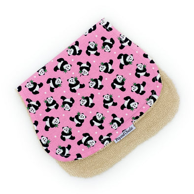 Burp Cloth - Tossed Pandas Pink