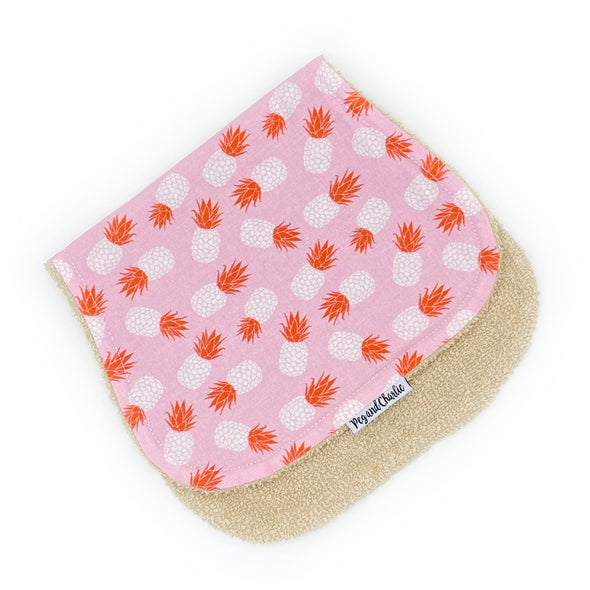 Burp Cloth - Tossed Pineapples Pink