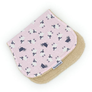 Burp Cloth - Tossed Sheep Pink
