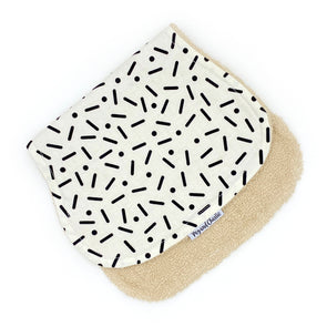 Burp Cloth - Confetti Monochrome