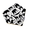 Gift Set - Dribble Bib, Burp Cloth & Teething Ring - Wild Safari
