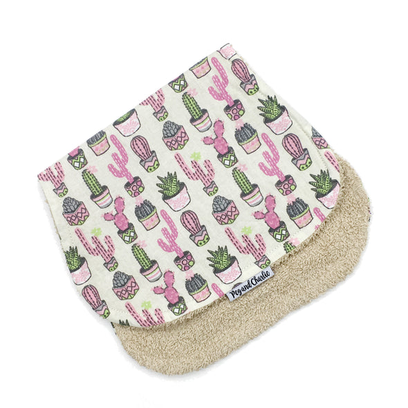 Burp Cloth - Succulent Pots