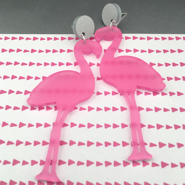 Statement Dangles - Flamingos