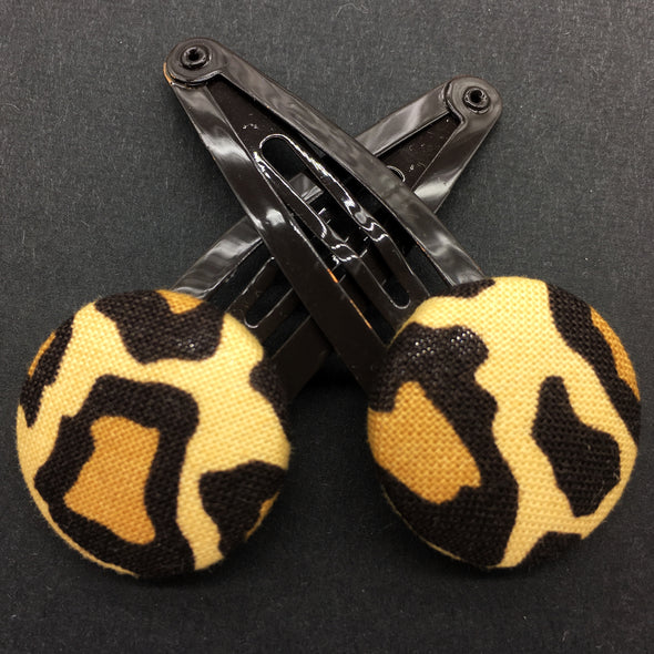 Twin Pack Snap Clips - Leopard Print