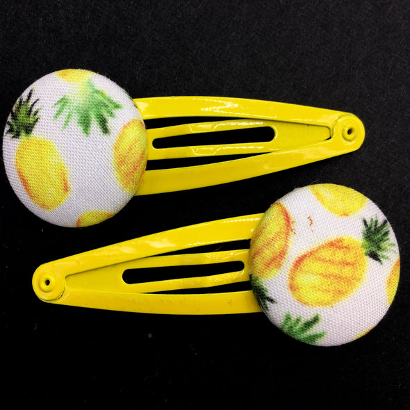 Twin Pack Snap Clips - Pineapple