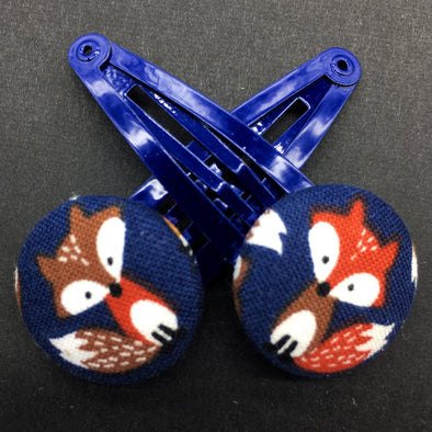 Twin Pack Snap Clips - Little Fox Friends