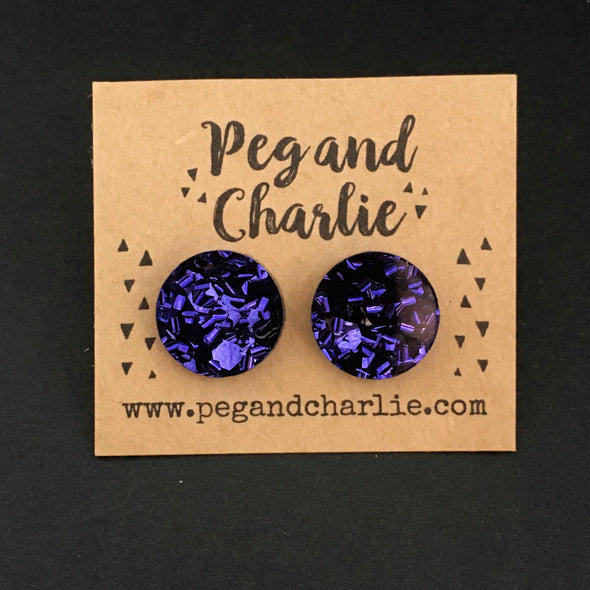 Acrylic Circle Studs - Deep Space