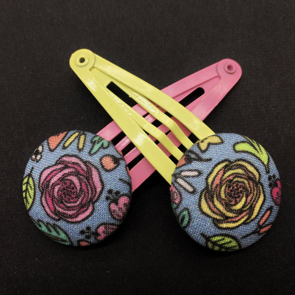 Twin Pack Snap Clips - Pop Roses