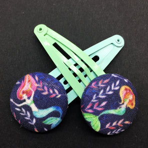 Twin Pack Snap Clips - Mermaids