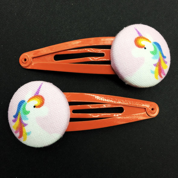 Twin Pack Snap Clips - Unicorn