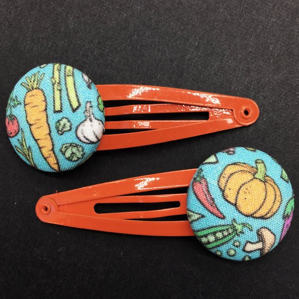 Twin Pack Snap Clips - Eat your Veggies!