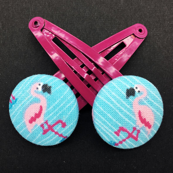 Twin Pack Snap Clips - Flamingoes