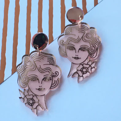 Statement Dangles - Art Deco Lady