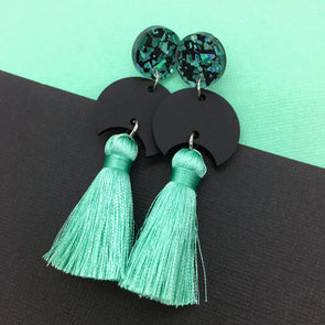 Statement Tassels - Eclipse Seafoam