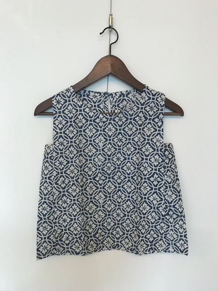 Boxy Sleeveless Blouse