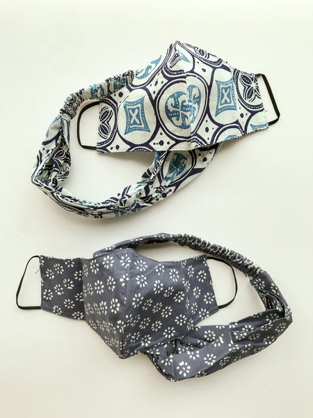 Face Mask (CURVED) & Headband Set