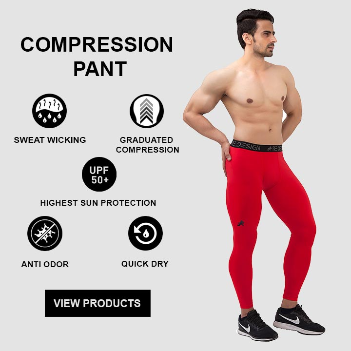 ReDesign Baselayer Compression Tights For Men