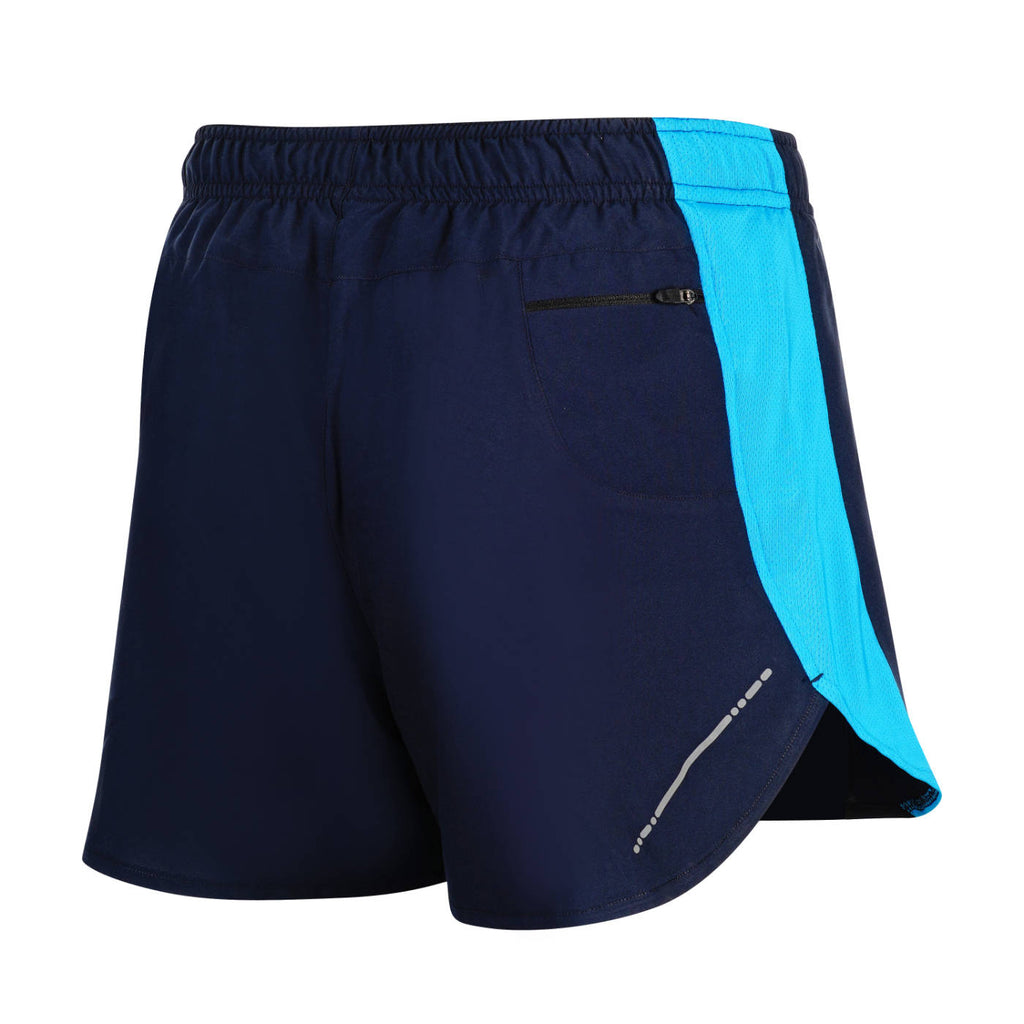 "3"" Ultra Running Marathon Split Shorts For Men (Navy/Royal)"