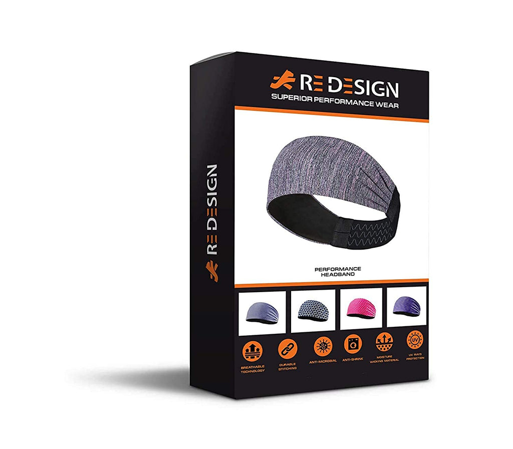 Sports Headband For Men and Women (Seismic Grey)