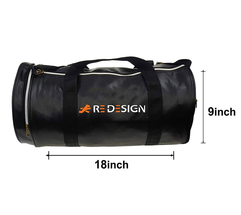 Redesign Gym Bag With Shoe Compartment (BLACK)