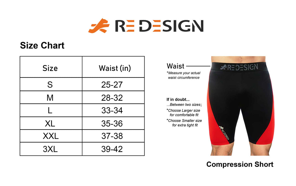 ReDesign Men Polyester Compression Shorts/Tights/Base Layer (Blue)