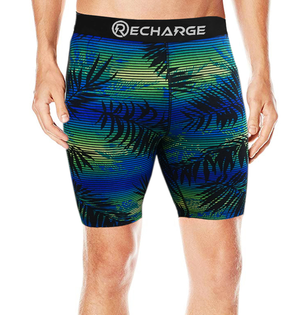 Recharge Polyester Compression Shorts (Beach Print)