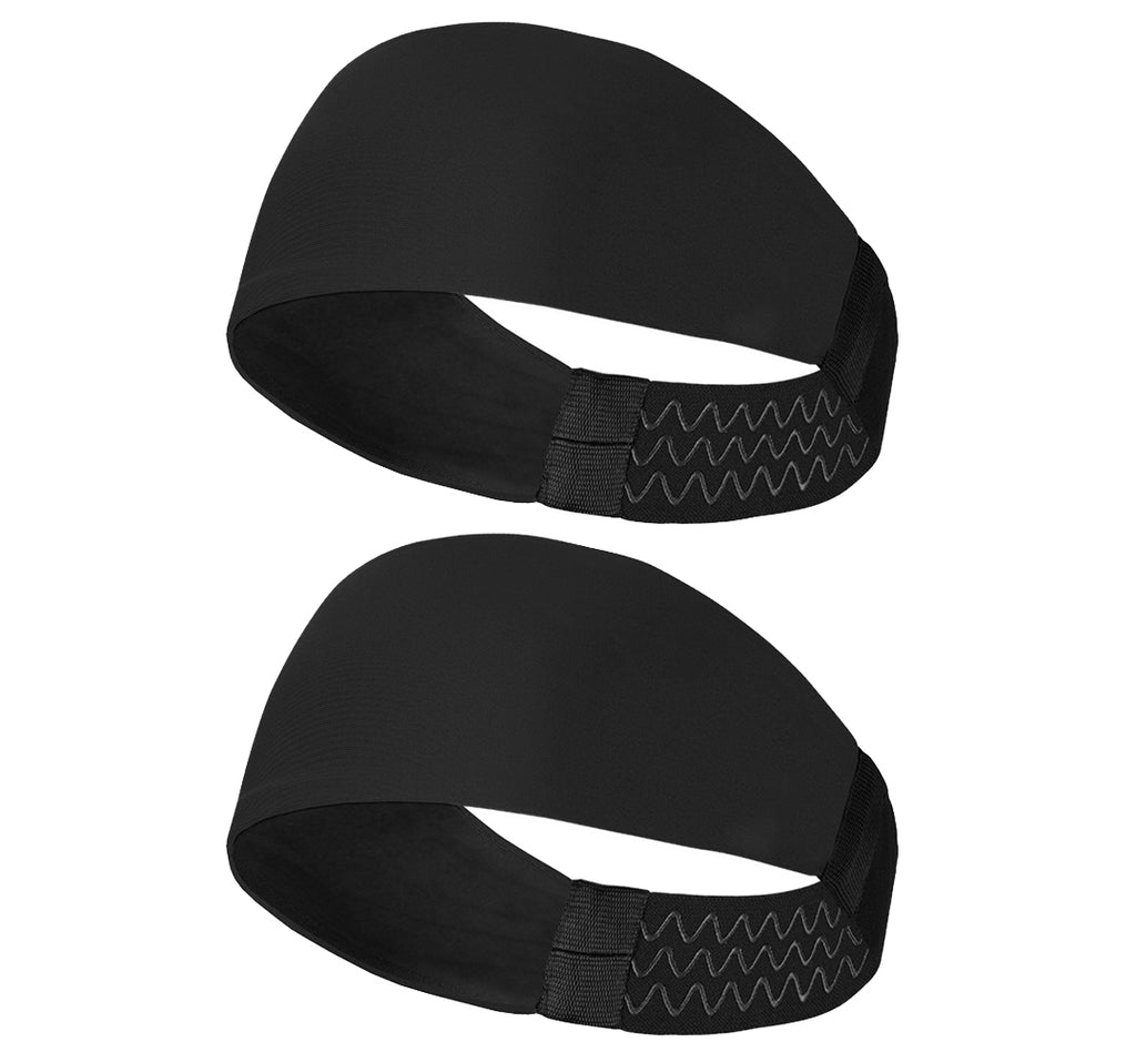 Sports Headband For Men and Women (Black Plain)