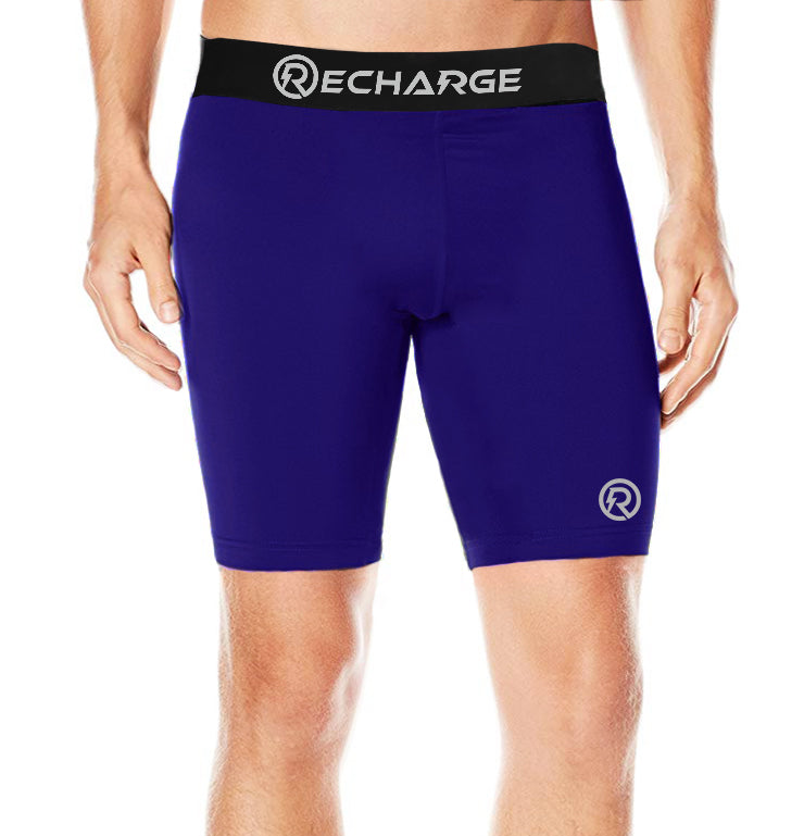 Recharge Polyester Compression Shorts (Navy)
