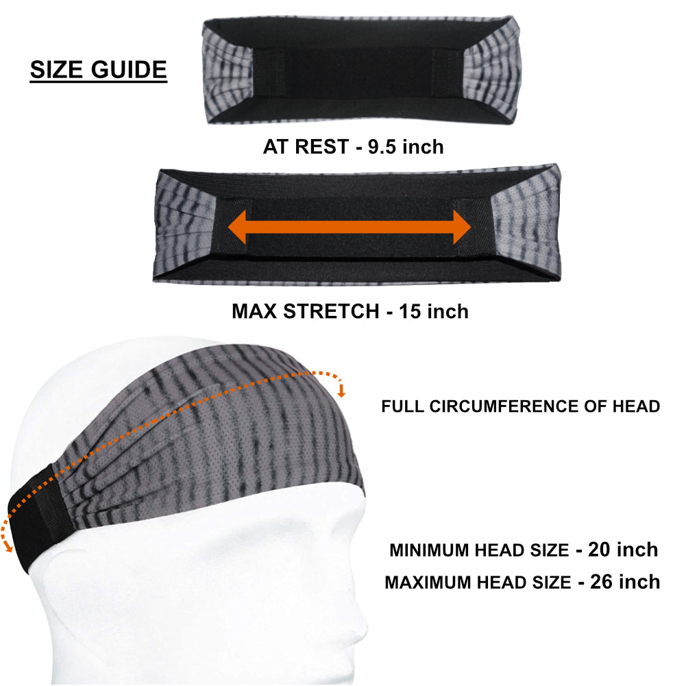 Sports Headband For Men and Women (Teal Pattern)