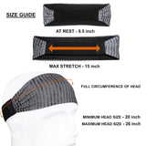 Sports Headband For Men and Women (Red Geo Pattern)
