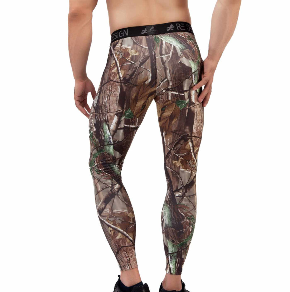 ReDesign Men Polyester Compression Pant/Tights/Legging (Camo)