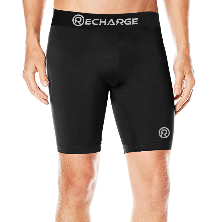 Recharge Polyester Compression Shorts (Black)