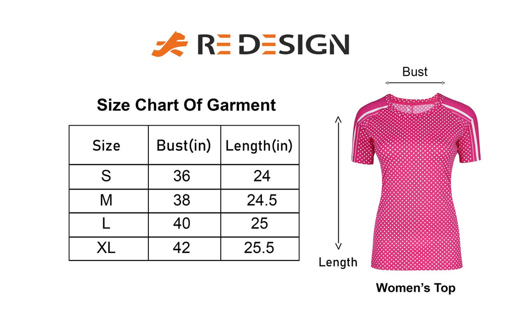 Performance Core Sports T-shirt For Women (Pink Dots)