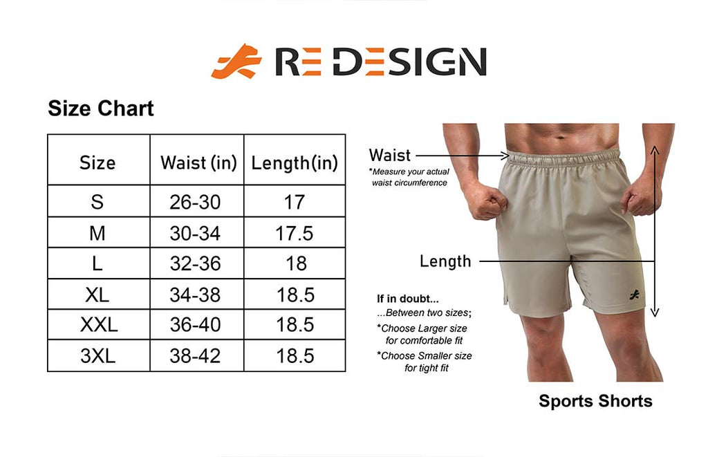 Elite Stretchable Sports Shorts For Men Zip Pockets (Van Gogh BNW)